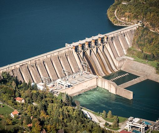 A hydropower dam