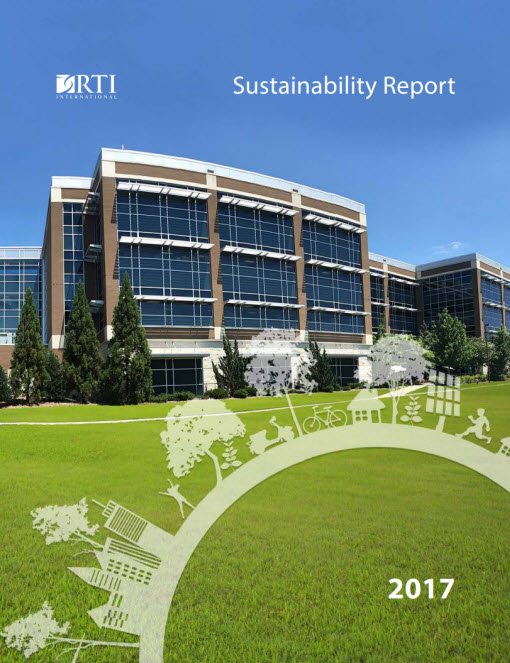 Cover of RTI's 2017 Sustainability Report