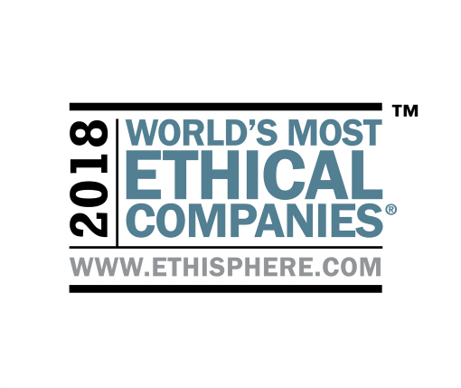 "World's Most Ethical Companies"" and ""Ethisphere"" names and marks are registered trademarks of Ethisphere LLC."