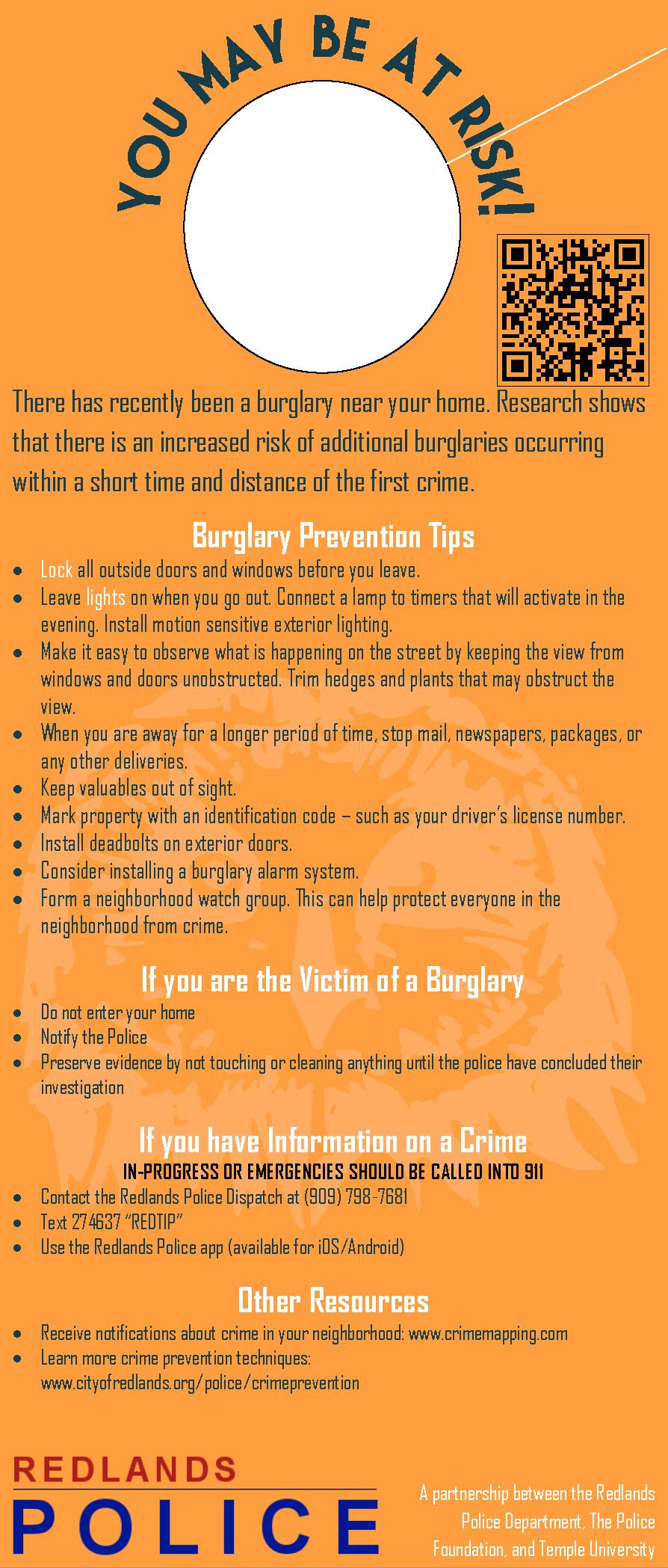 Near-Repeat Burglary Identifier Tool | RTI