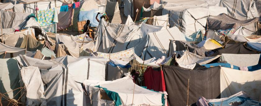 tents in a refugee camp