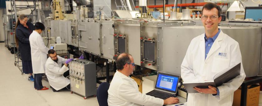 Howard Walls in air filtration lab 2