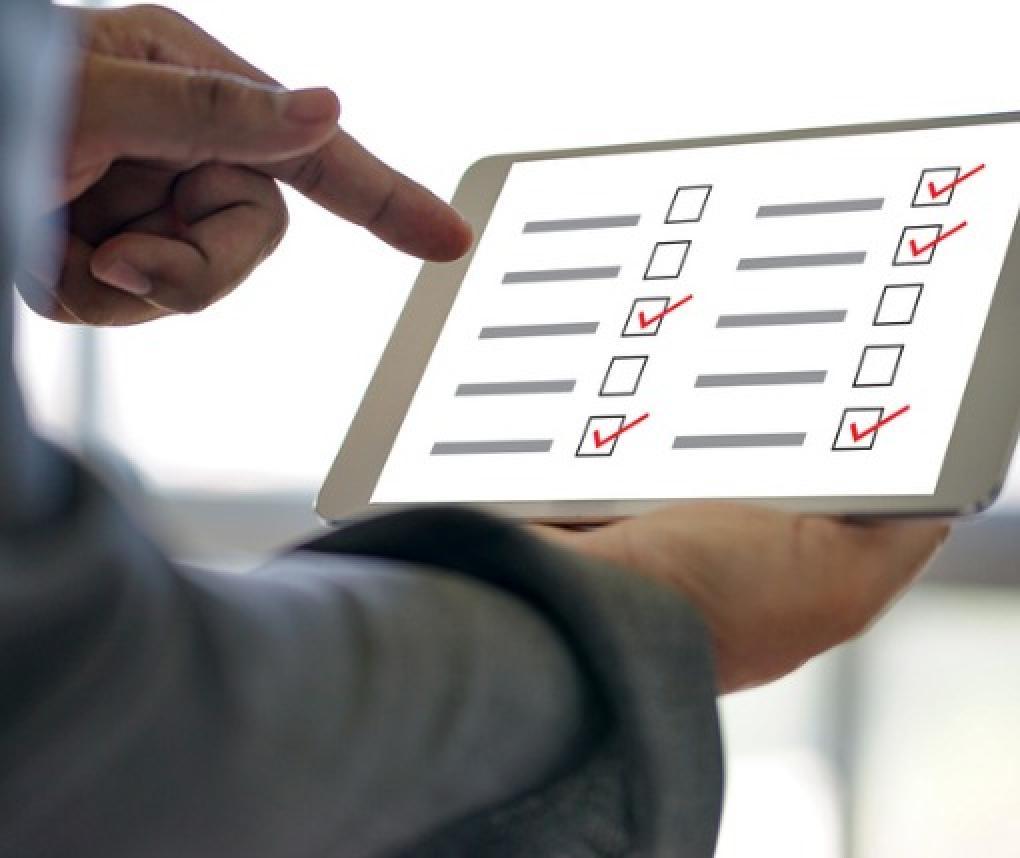 Survey on an ipad