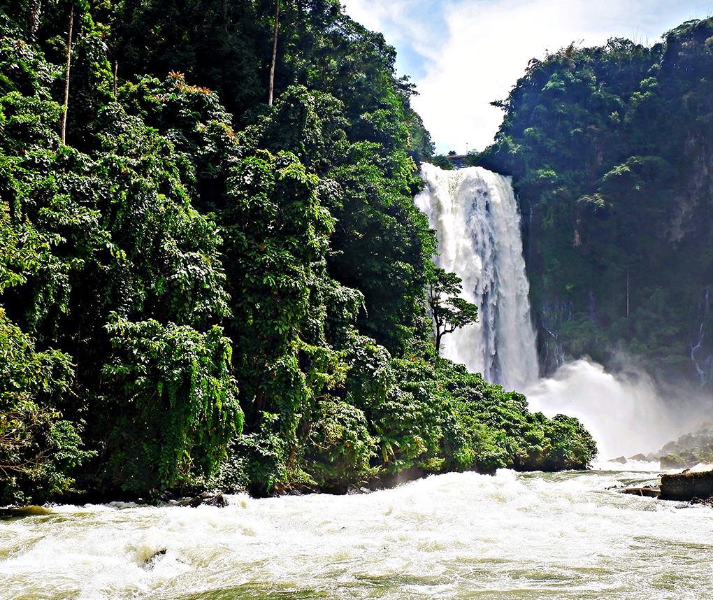 Maria Cristina Falls along the Agus River in Mindanao, Philippines.