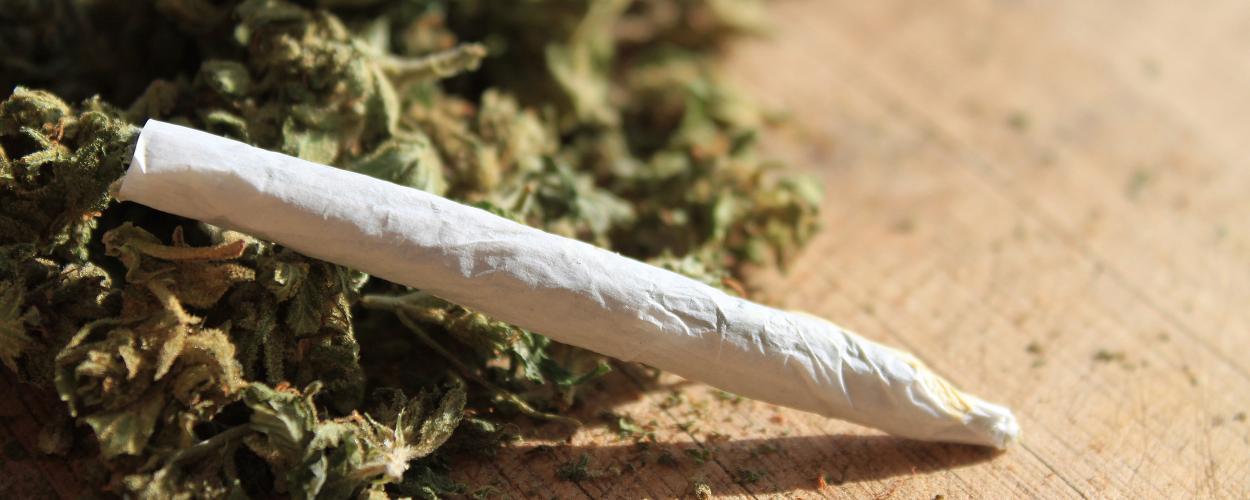 A marijuana cigarette