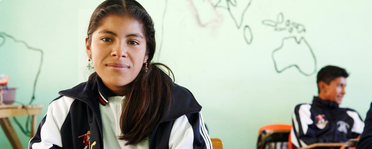 A woman in Latin America