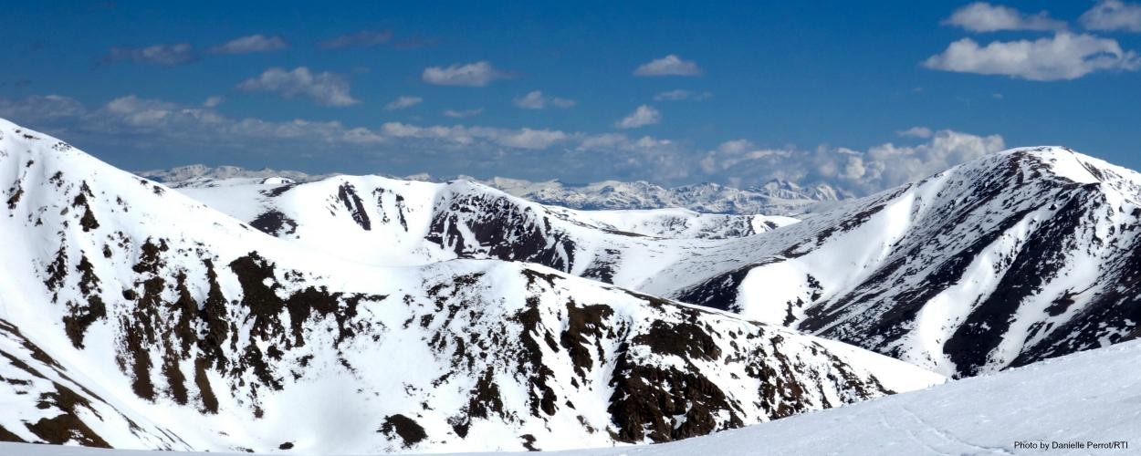 The water supply for much of the western U.S. and Mexico originates in these snow-covered mountains in Colorado.