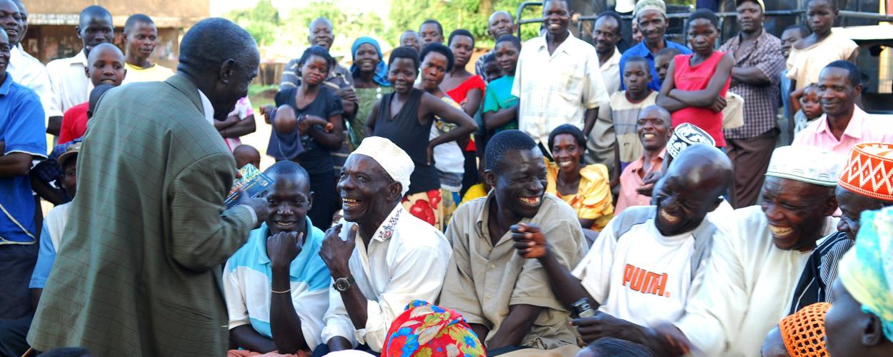 A public meeting in Uganda