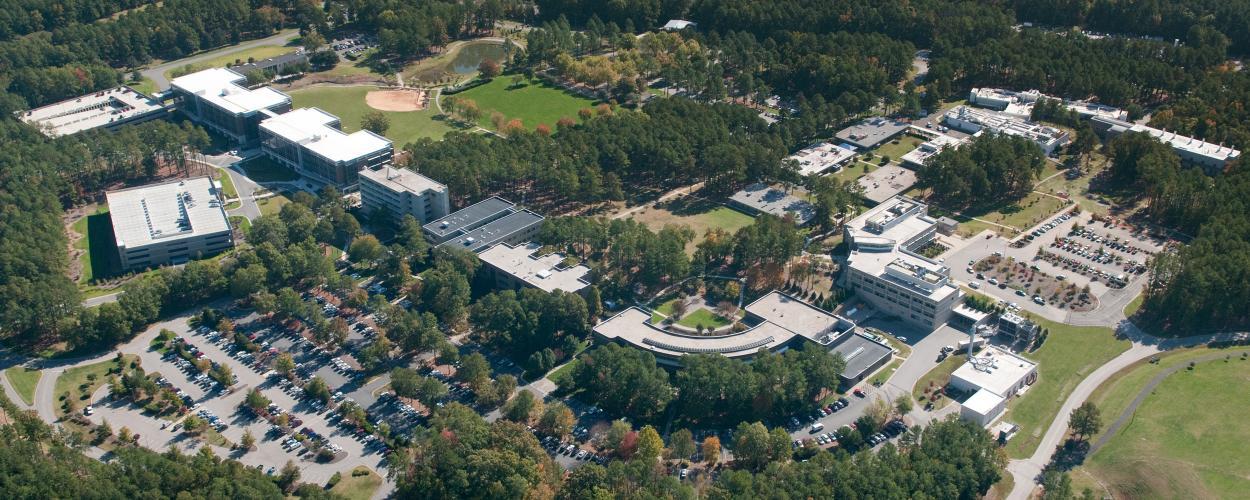RTP campus aerial