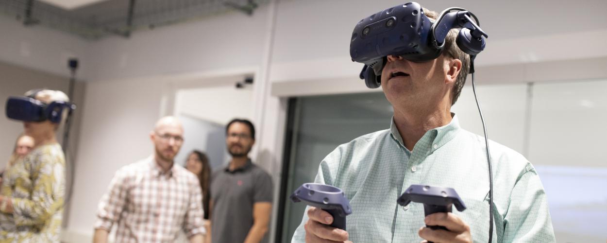 Our executives sample virtual reality