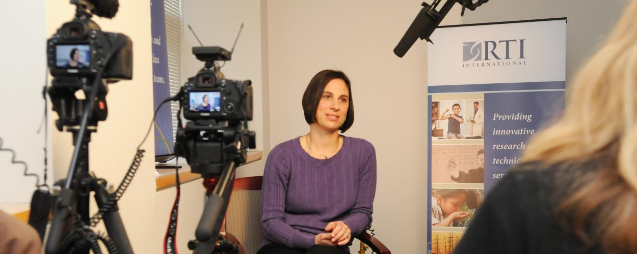 Jennifer Uhrig is interviewed