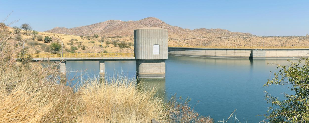 Dam in a body of water