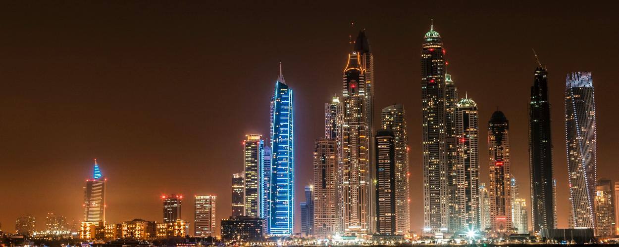 The skyline of Dubai