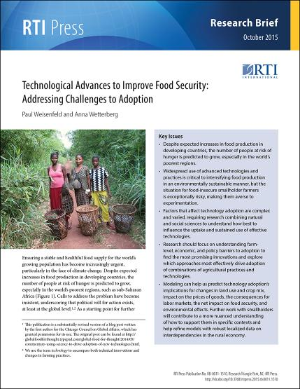 Technological advances to improve food security | RTI