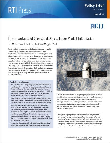 The importance of geospatial data to labor market
