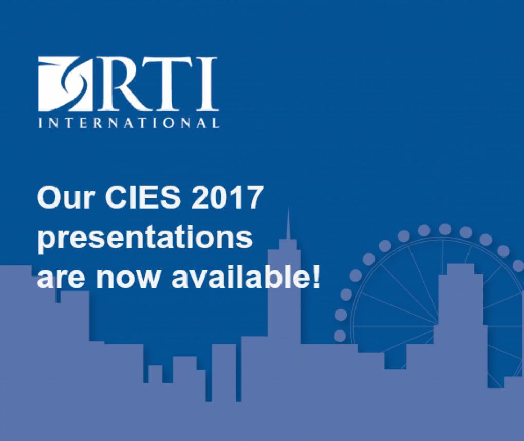 CIES 2017 Presentations