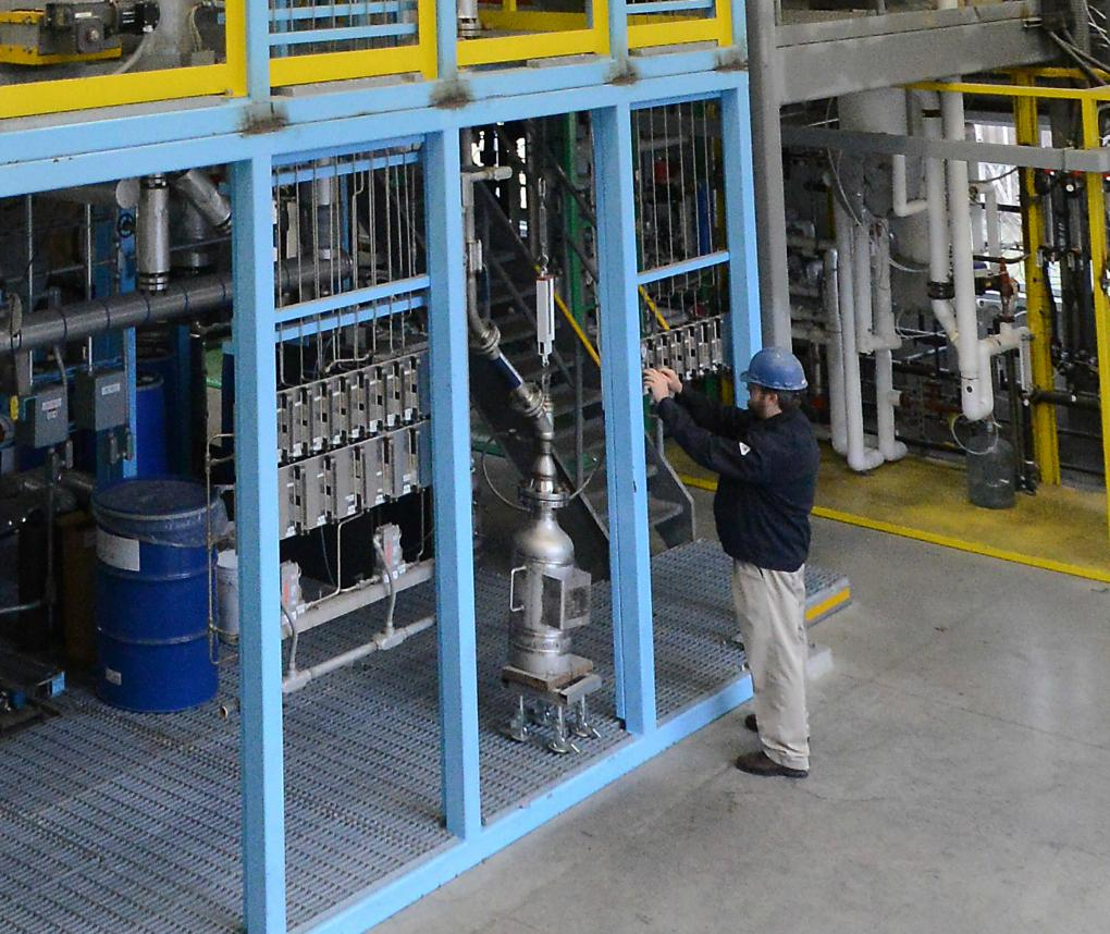 RTI conducts research on pilot-scale catalytic fast pyrolysis.