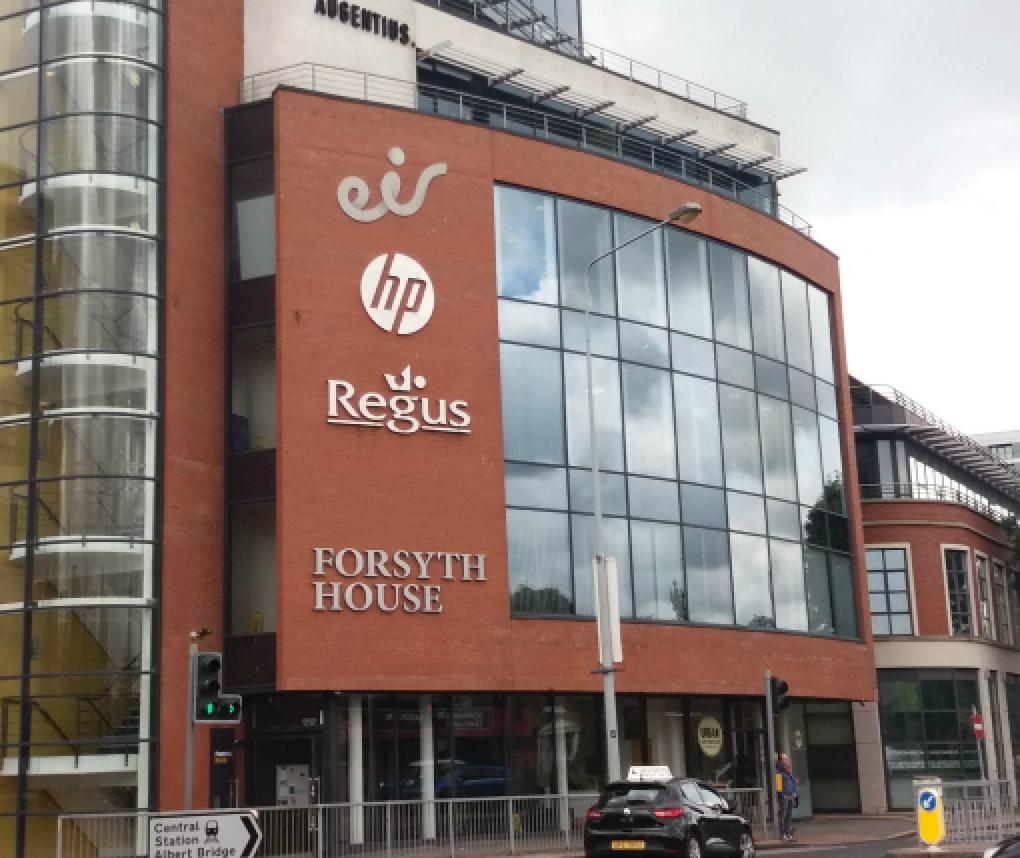 Exterior view of the RTI Health Solutions office in Belfast