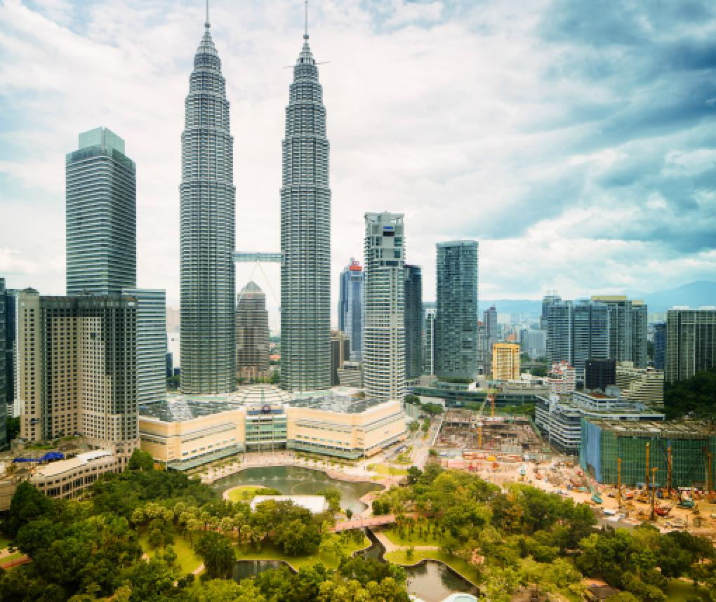 Urban skyline in Kuala Lumpur, Malaysia