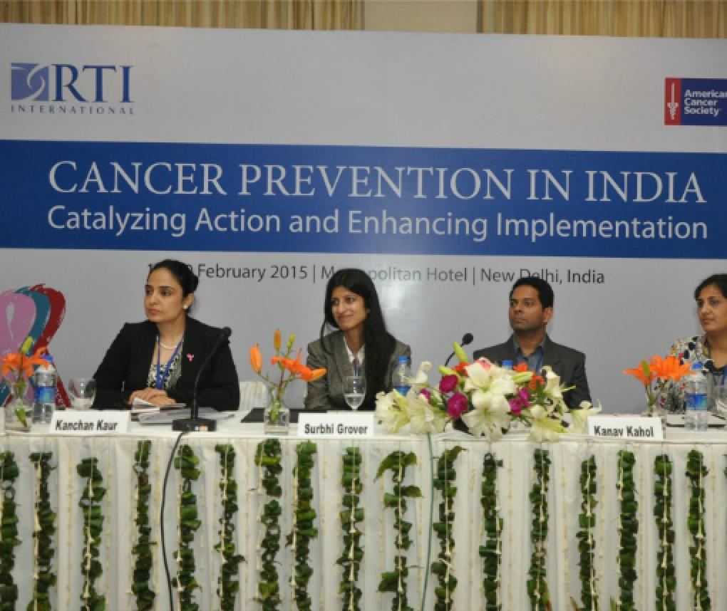 Experts participate in an RTI International symposium on cancer in India
