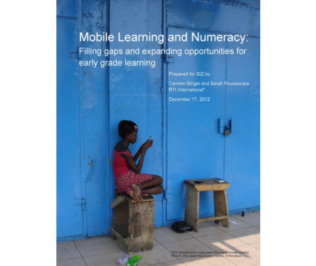 cover of the report Mobile Learning and Numeracy