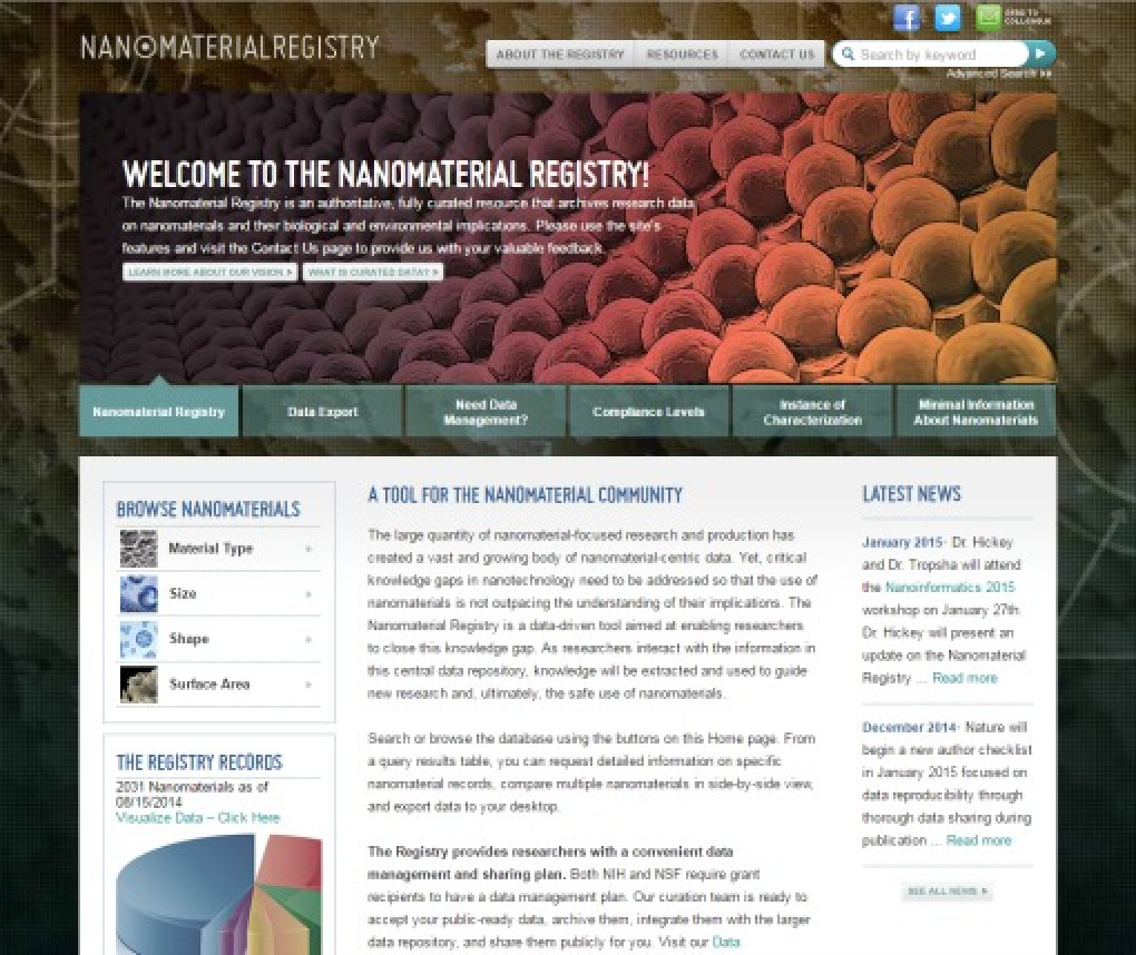 Nanomaterial.org screenshot