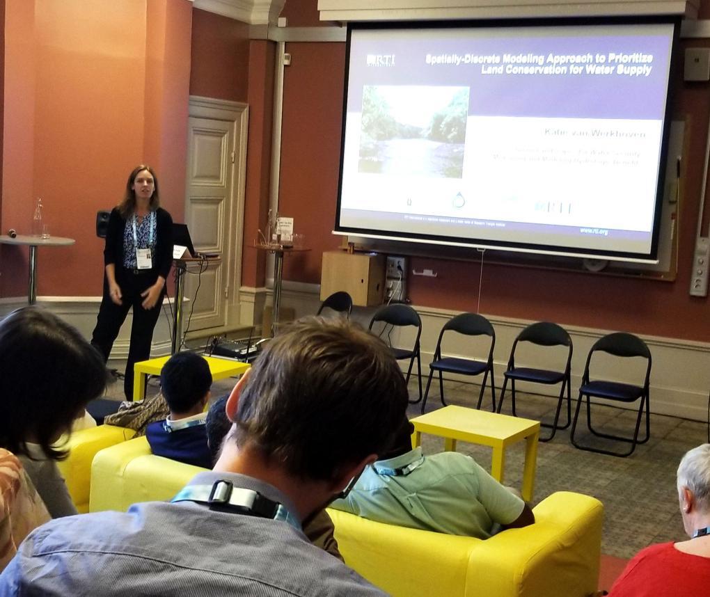 Katie Van Werkhoven presents at World Water Week 2018