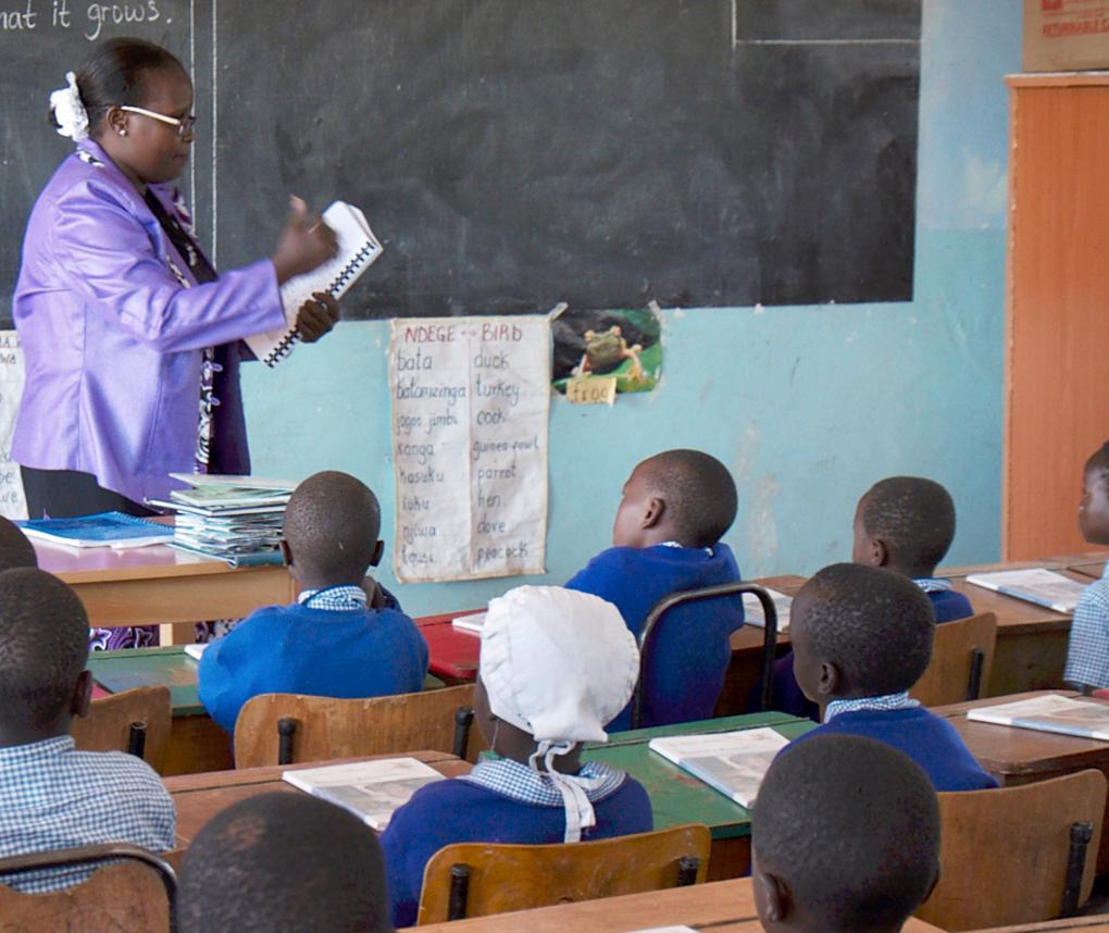 teacher in Nakuru schoolroom